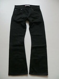 Levi-039-s-512-Bootcut-Jeans-Hose-W-33-32-Schwarz-deep-black-Denim-wie-NEU