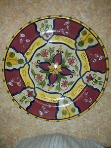 NEW-13-034-Pier-1-034-Vallarta-034-Hand-Painted-Earthenware-Serving-Platter