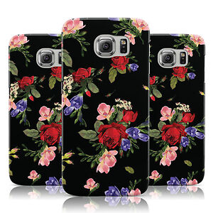 ROSES-PURPLE-FLOWERS-PRINT-BLACK-CASE-COVER-FOR-SAMSUNG-GALAXY-MOBILE-PHONES