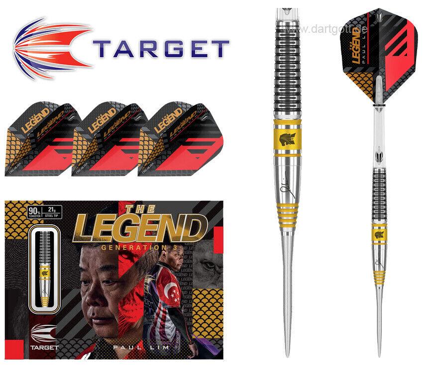 Target PAUL LIM GEN 3 Steeldarts - 21 gramm Steel Dartpfeile - 90% Tungsten Dart