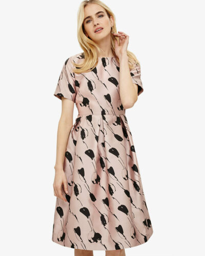 Black Rrp Floral Dress Carlett Uk 150 Sz New Pink 12 Eight Dusty Phase £ BXq6xqF
