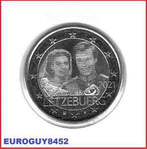 LUXEMBURG - 2 € COM. 2021 UNC - 40e VERJAARDAG HUWELIJK HERTOG HENRI - FOTO