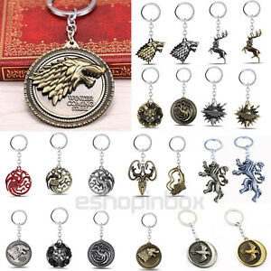 Game-Of-Thrones-Targaryen-Dynasty-Distintivo-3D-Metallo-Portachiavi-Chiave-Chain