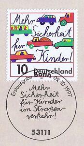 Rfa 1997: Plus De Sécurité Pour Enfants! Nº 1954 Avec Bonner Cachet Spécial 1a! 1610-afficher Le Titre D'origine
