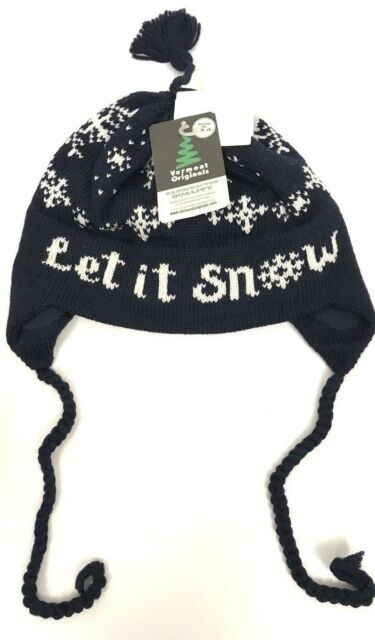 b7f548b7e145e Vermont Originals Wool Beanie Nordic Fair Isle USA Made Earflap Ski Tassel  Hat