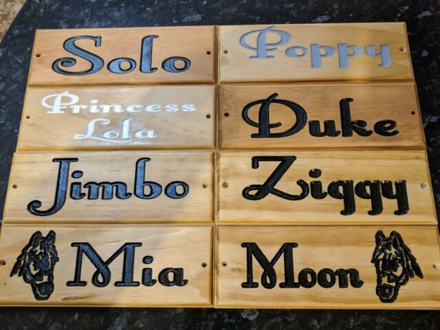 Horse Dog Name Plate Stable Door Sign Office Wooden House