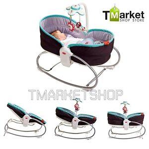 3 In 1 Baby Rocker Napper Bed Convertible Safe Toddler Infant Cot