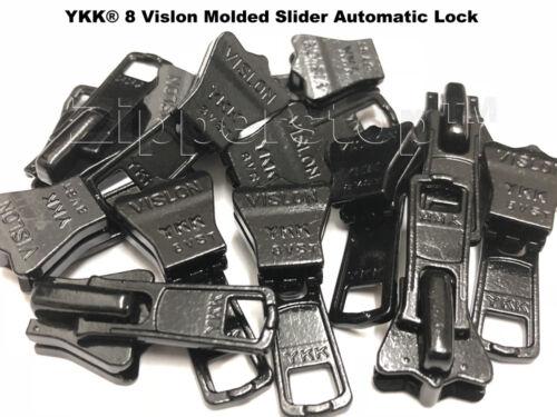 #5 ou # 8 Vislon moulé Slider automatique Lock Made USA Deal of the Day YKK ® #3