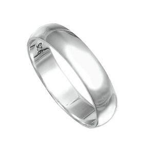 handmade 925 solid sterling silver d shape 5 mm wedding