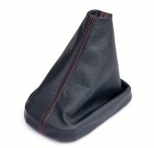 Schaltsack-Schaltmanschette-FADEN-ROT-passend-fuer-SEAT-TOLEDO-2-Bj-99-06-LEDER