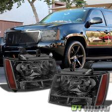 Smoked 2007 2014 Suburban Tahoe Avalanche Factory Look Headlights Leftright Set Fits 2007 Chevrolet Suburban 1500