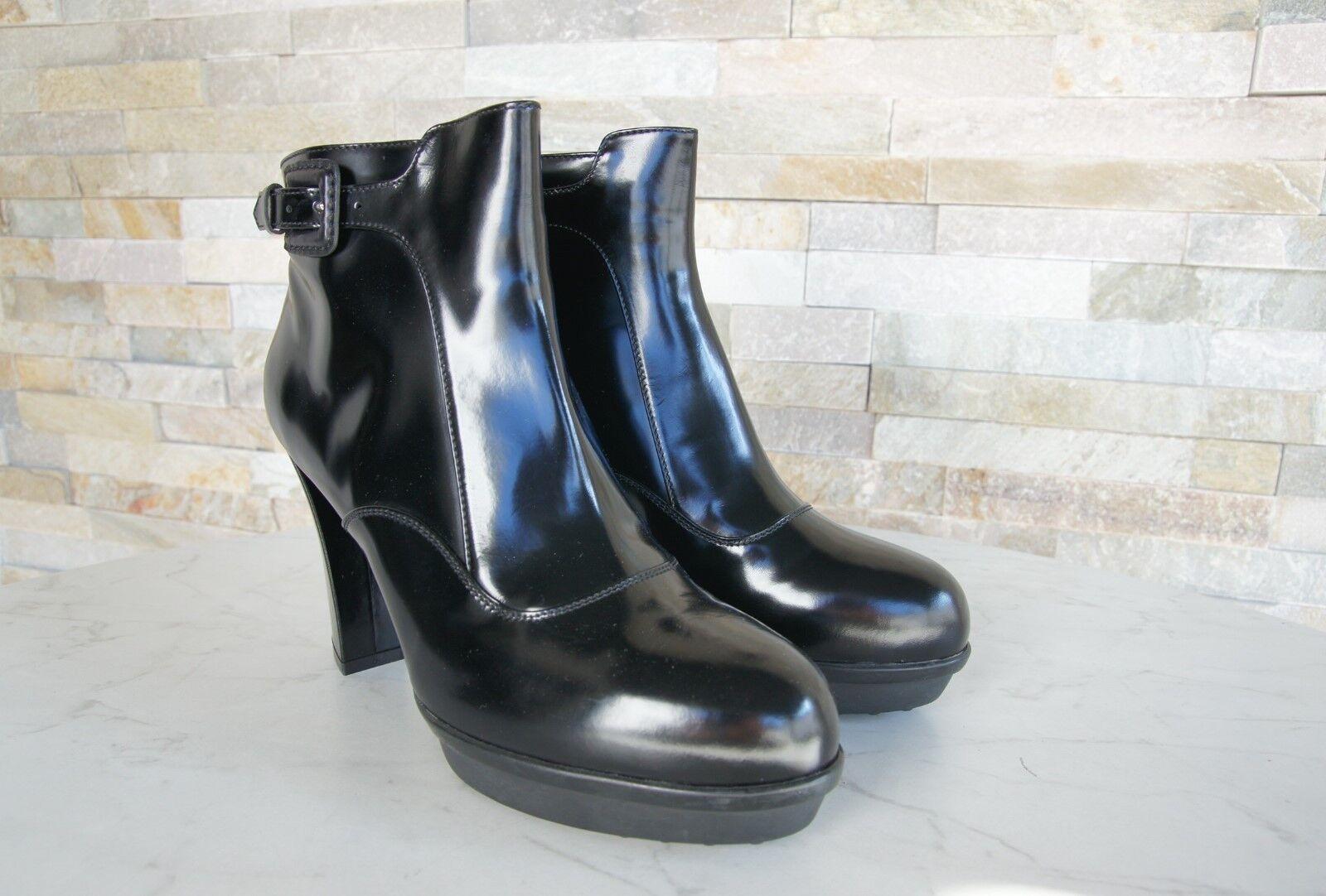 TODS TODS TODS TOD'S Bottines T 41 PLATEFORME démarrageies Chaussures Noir Neuf Ex Prix Recommandé df672a