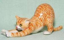 Klima Miniature Porcelain Animal Figure Ginger Cat Stretching K601