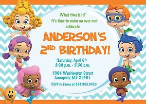 Image Is Loading Bubble Guppies Birthday Party Invitation