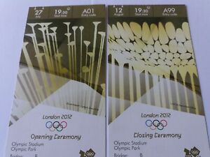 Details about London 2012 Olympic Games ORIGINAL OPENING & CLOSING CEREMONY  Tickets MINT !