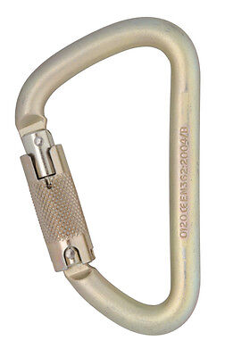 DMM Sidewinder Screw Gate Carabiner With Swivel Tactical Grey