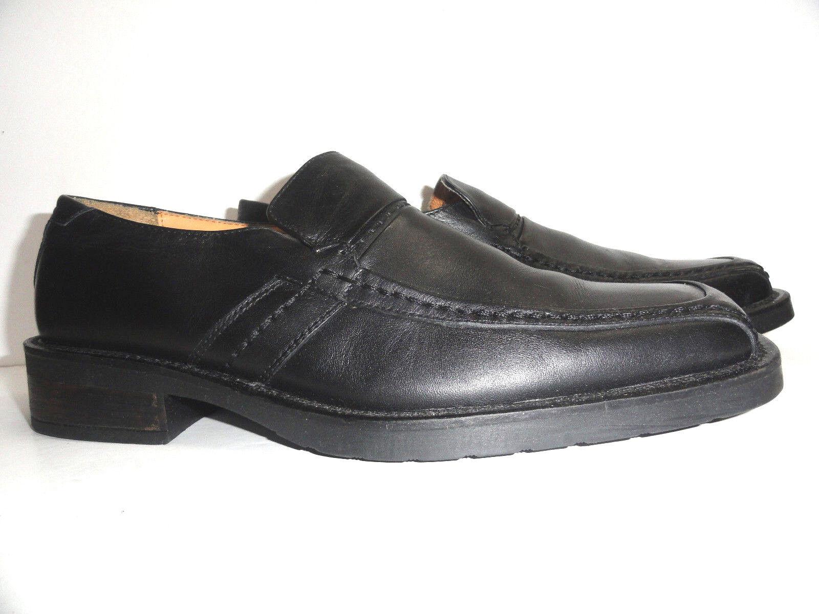 Johnston & Murphy Men's Slip-On Black Leather Loafers shoes Size 8