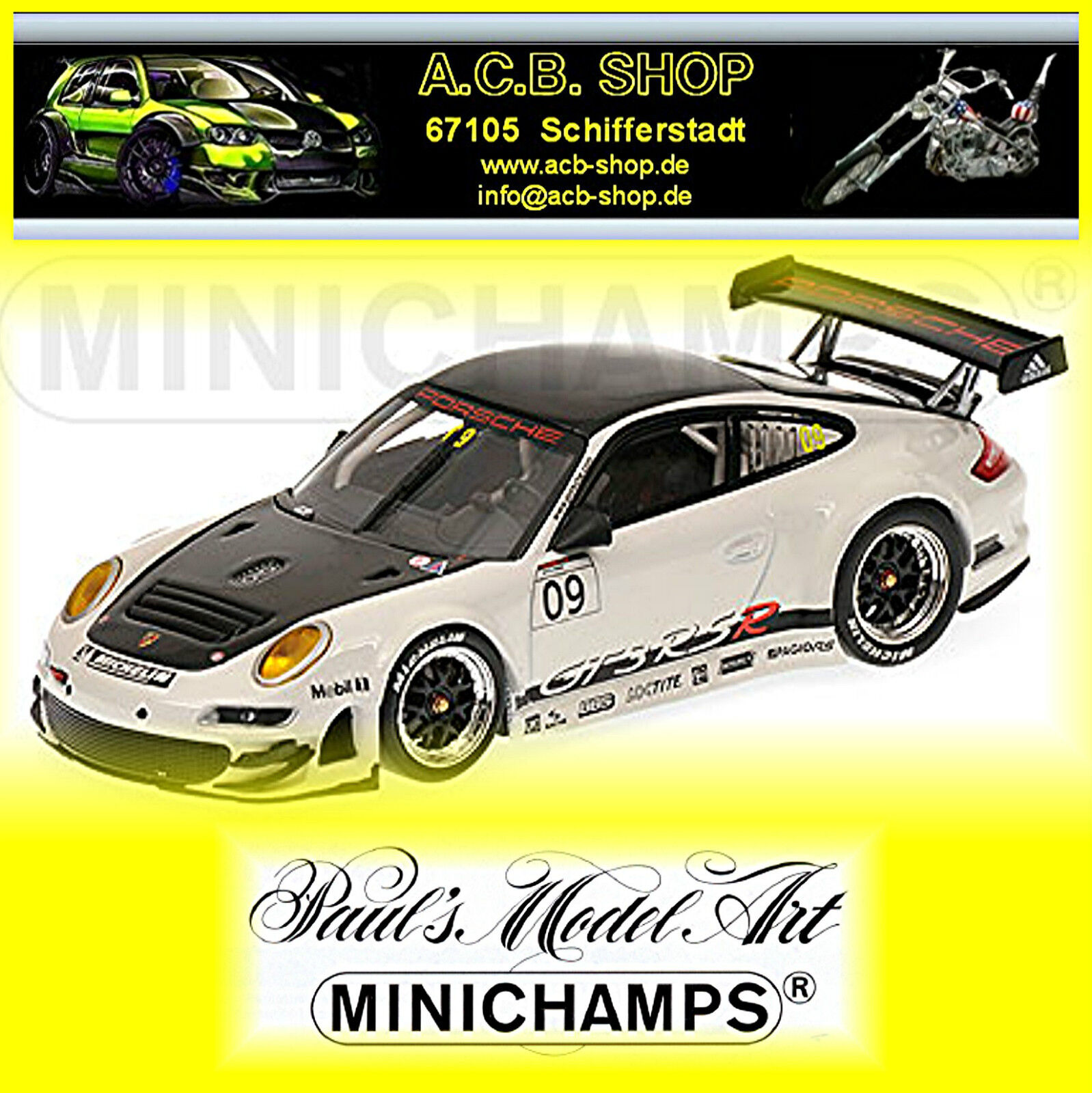 PORSCHE 911 997 gt3 RSR Presentation 2009  09 1 43 Minichamps