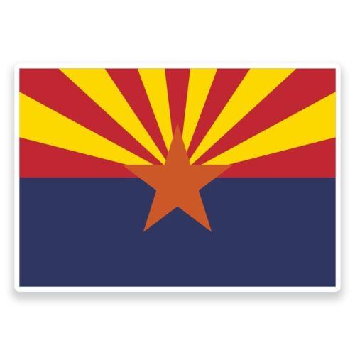 2 x Arizona Flag Vinyl Sticker Travel Car Luggage #9004