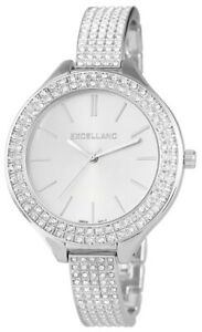 Excellanc-Damenuhr-Silber-Strass-Analog-Metall-Quarz-Armbanduhr-X152822500017