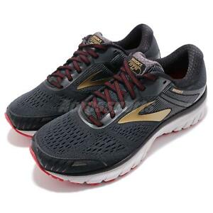 be553f81b21 Brooks Adrenaline GTS 18 2E Wide Black Gold Red Men Running Shoes ...
