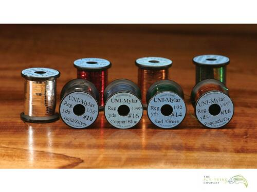 Uni-Mylar Lametta 2-Tone Farbauswahl Fliegenbinder