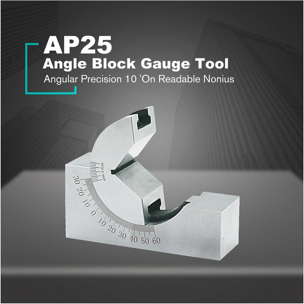 Set Angle gauge block Adjustable Mini Precision Milling 0-60 degree Practical