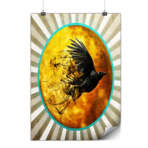 Raven Cosmos Moon Space Matte//Glossy PosterWellcoda