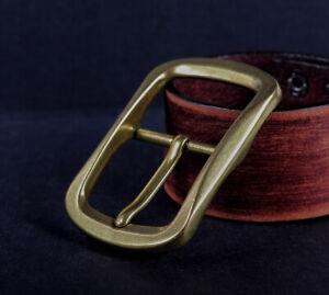 OTTONE-massiccio-classico-pin-fibbia-della-cintura-per-Cintura-in-Pelle-Cinturino-Di-Ricambio-Adatto