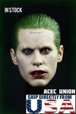 1/6 Joker Head Sculpt Jared Leto Suicide Squad Batman For Hot Toys U.S.A. SELLER