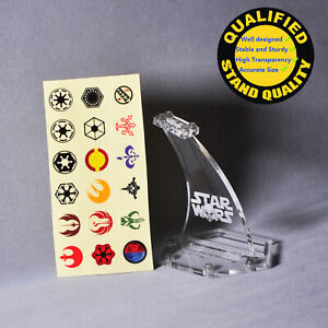 Display-Stand-for-Lego-Starwars-Top-2x4-with-angle-Height-100mm-stand-only