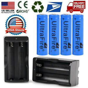 4PCS-High-Capacity-Li-Ion-Battery-3-7v-Rechargeable-Batteries-2x-Dual-Charger