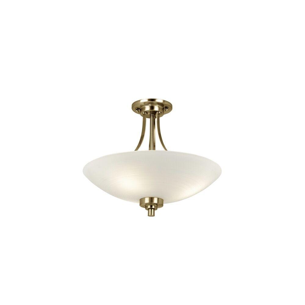 Endon Lighting WELLES-3AB 3 Light Grooved Glass Antique Brass S F Light