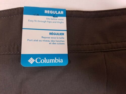 NWT Men/'s Columbia Omni-Shade Performance Utility Shorts Sycamore Falls Gray 50