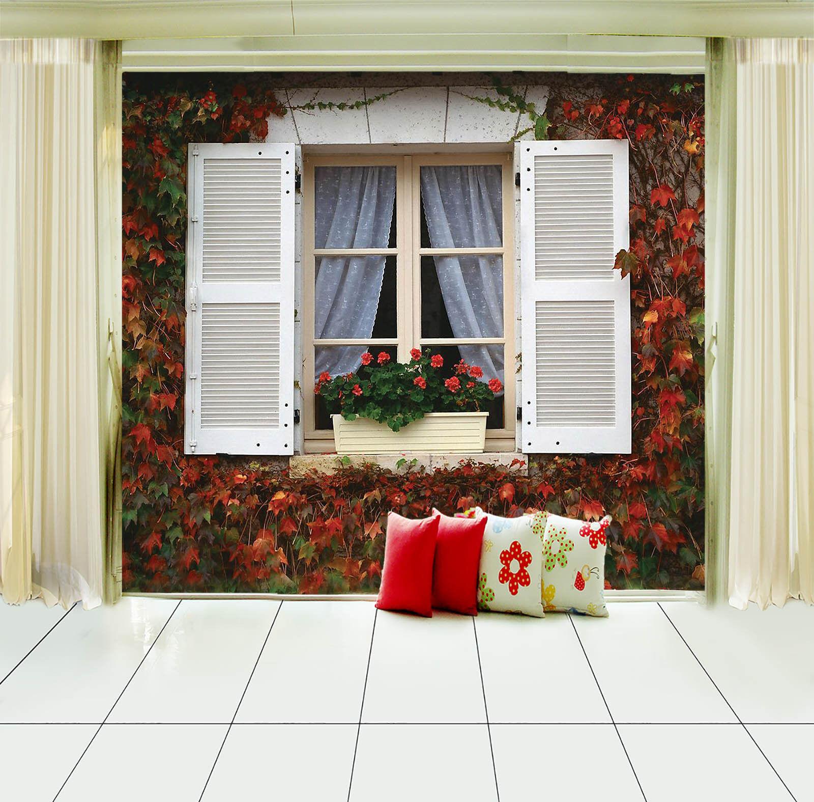 3D Belle Fenêtre 17 Photo Papier Peint en Autocollant Murale Plafond Chambre Art
