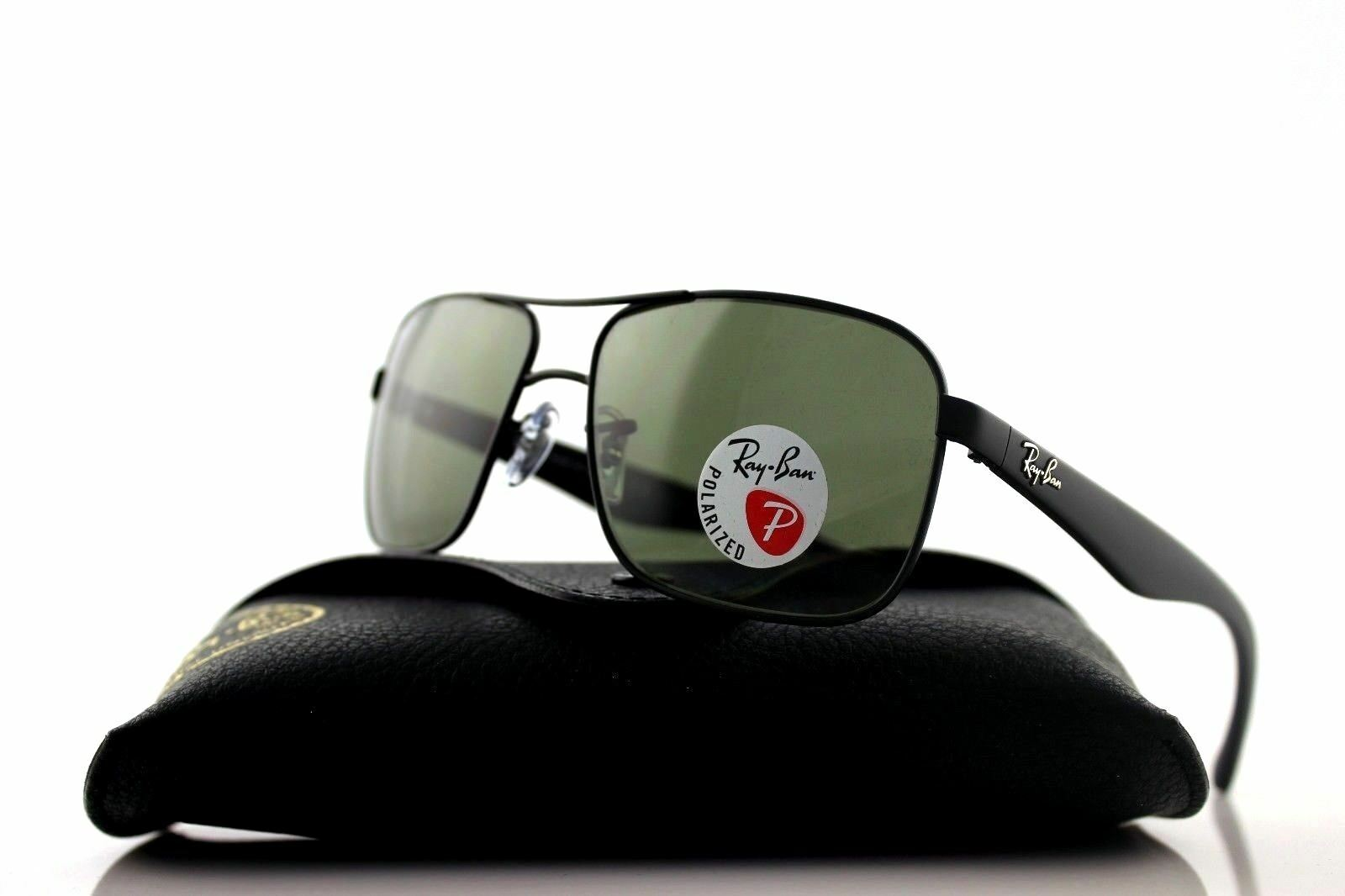 ca2c273fb0 Ray-Ban Rb3516 006 9a 59mm Matte Black Frame green Polarized ...