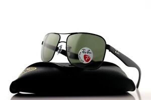 31c3ed30481 Image is loading POLARIZED-New-RAY-BAN-Aviator-Black-Green-Classic-
