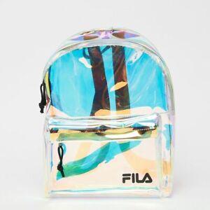 Détails sur FILA Mini Backpack Malmö AOP 685123.A527 TRANSPARENT IRIDESCENT