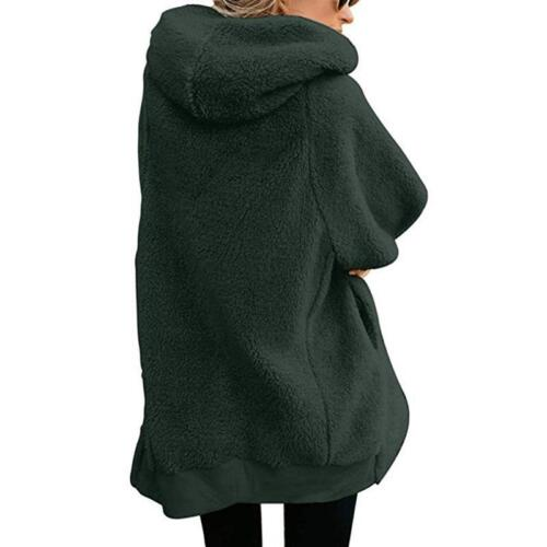 Zipper Cashmere Solid Sweet Long Sleeve Hoodie /& Coat FREE SHIPPING
