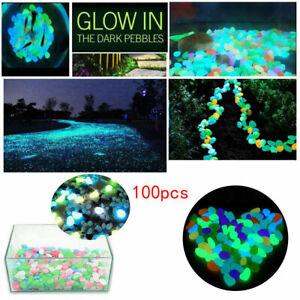 100-piezas-brillan-en-la-oscuridad-Piedras-Guijarros-Rock-Pez-Tanque-Acuario-pasillo-de-jardin