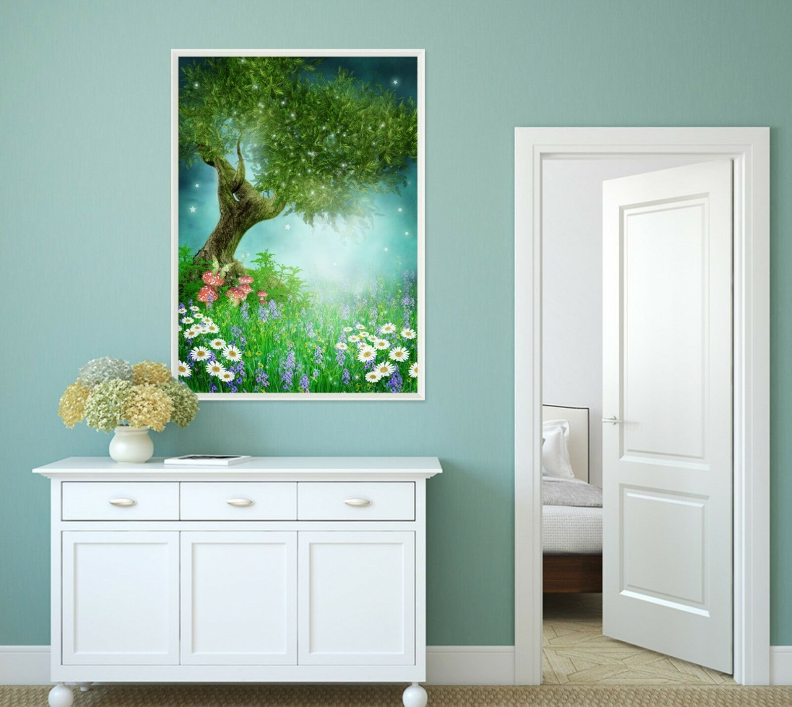 3D Tree Moonlight 555 Fake Framed Poster Home Decor Print Painting Unique Art