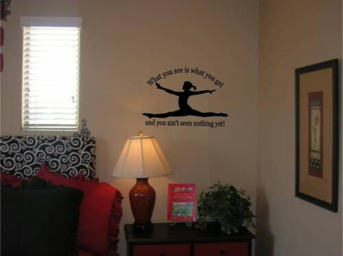 decor girls cheer//gymnastics ain/'t seen nothing yet quote vinyl wall decal