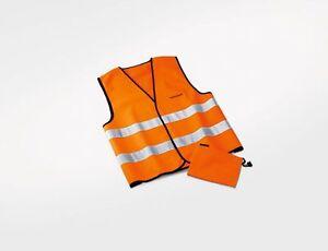 Warnweste-Original-VW-Orange-in-Stofftasche-mit-Volkswagen-Schriftzug-Sicherheit