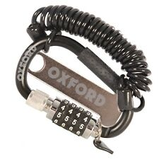 Oxford LidLock Carabiner Combination Motorcycle Helmet Lock
