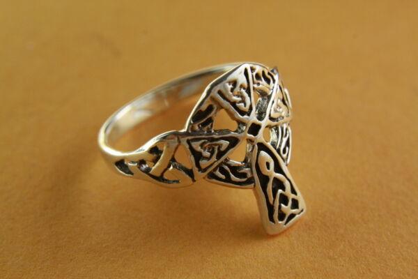 Hilfreich Kreuzring Templar Keltisches Kreuz Gothic Cross 925 Silber Silberring / 432