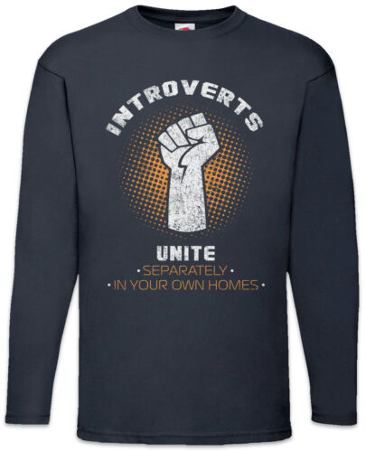 Introverts Unite Langarm T-Shirt Fun Nerd Informatiker Wissenschaftler Gamer