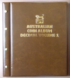 VST-AUSTRALIAN-DECIMAL-COIN-ALBUM-1966-to-2015-VOLUME-1-BROWN-with-MINTAGES