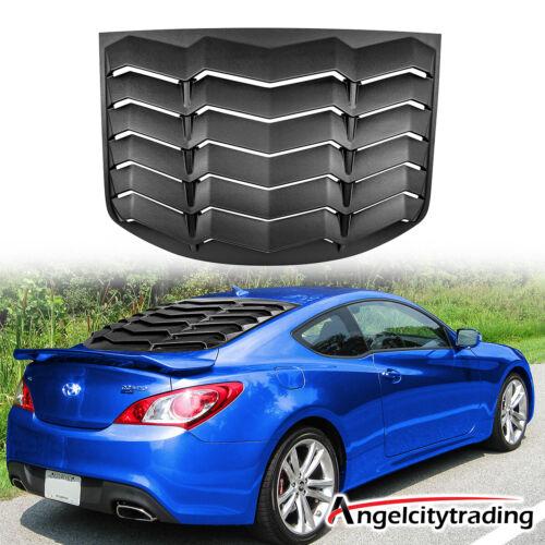 Matte Black Rear Window Louver Scoop Cover For Hyundai Genesis ...