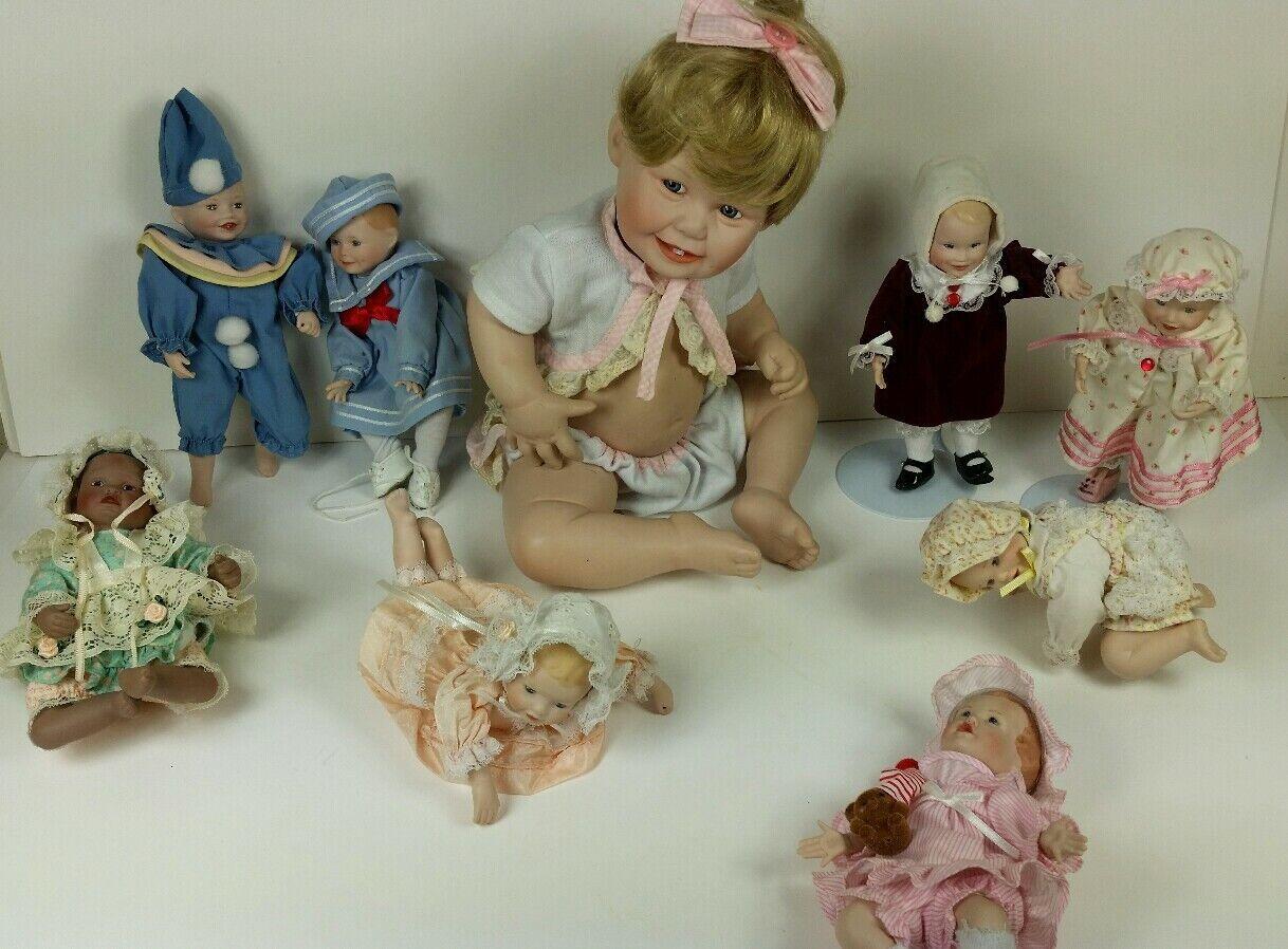 Lote de 9 Ashton Drake Yolanda muñecas de porcelana de Bello