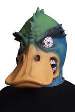 Morbid Angry Duck Latex Mask Adult Blue & Green Bird Halloween Costume Accessory